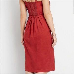 Maurices Dresses - MAURICES Plus Size NWT Linen Button Front Dress 2X